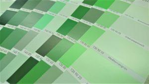 neu Farbfächer grün